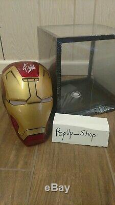 NO RESERVE Iron Man Helmet Signed Stan Lee Authentic Excelsior COA Marvel