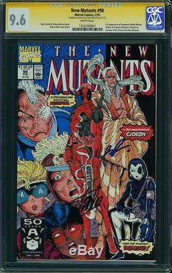 New Mutants #98 1st DEADPOOL Signed by STAN LEE & ROB LIEFELD CGC 9.6 Marvel The