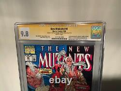 New Mutants #98 CGC SS 9.8 Signed by Stan Lee and Liefeld! First Deadpool