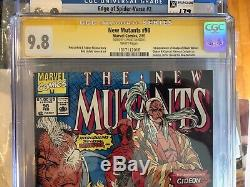 New Mutants #98 Comic Book CGC 9.8SS (Signed by Stan Lee)