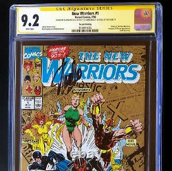 New Warriors #1 3X SIGNED STAN LEE + BAGLEY + NICIEZA CGC SS Origin 2nd