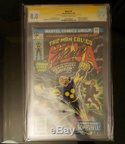 Nova #1 CGC 8.0 Signed By Stan Lee White/off White Pages 1st Appearance of Nova