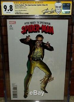 Peter Parker Spectacular SpiderMan 6 CGC 9.8 SIGNED STAN LEE j scott campbell