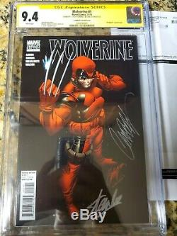 Priced 2 Sell WOLVERINE #1 CGC 9.4 SIGNED STAN LEE & J SCOTT CAMPBELL DEADPOOL