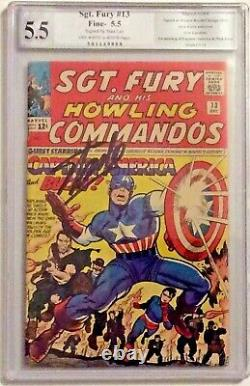 SGT Fury # 13 PGX Graded 5.5 And Signed by Stan Lee Captain America Appearance