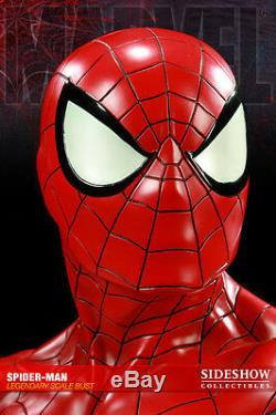 SIDESHOW EXCLUSIVE SIGNED By STAN Lee SPIDER-MAN Legendary Scale Bust STATUE Toy