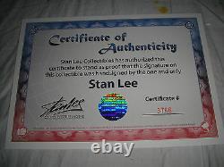 SIGNED STAN LEE SIDESHOW Dr DOOM PREMIUM FORMAT EXCLUSIVE STATUE FANTASTIC 4