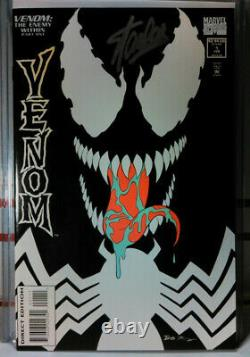 SIGNED! VENOM THE ENEMY WITHIN #1 STAN LEE Spider-Man CLASSIC GLOW COVER Morbius