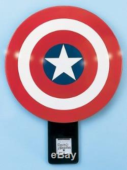 SIGNED by STAN Lee CAPTAIN AMERICA SHIELD Prop Replica Factory X AVENGERS MARVEL
