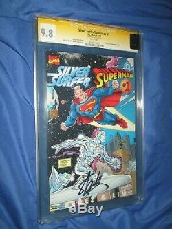 SILVER SURFER / SUPERMAN #1 CGC 9.8 SS Signed by Stan Lee DC & Marvel