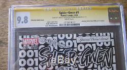 SPIDER-GWEN #1 CGC 9.8 SS Signed 2X STAN LEE & TODD MCFARLANE PHANTOM SKETCH