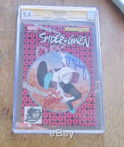 SPIDER-GWEN #1 CGC SS 9.4 Signed 2X STAN LEE and TODD MCFARLANE