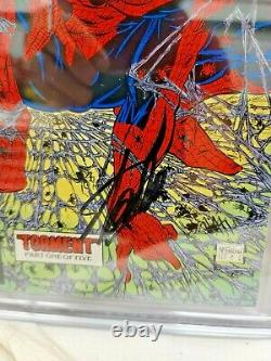 SPIDER-MAN #1 CGC 9.6 WP SS SIGNED BY STAN LEE Todd MCFARLANE ART! SM #1 HOMAGE