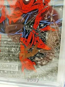 SPIDER-MAN #1 CGC 9.8 SILVER SIGNED BY STAN LEE Todd MCFARLANE ART! SM #1 HOMAGE