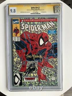 SPIDER-MAN #1 CGC 9.8 WP SS SIGNED BY 2x STAN LEE & Todd MCFARLANE