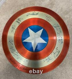 STAN LEE Signed Captain america Shield Russos BrothersChris Evans Autograph More