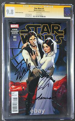 STAR WARS 1 CGC SS 9.8 Signed 3X by STAN LEE AARON & MARTIN, PICHELLI VARIANT