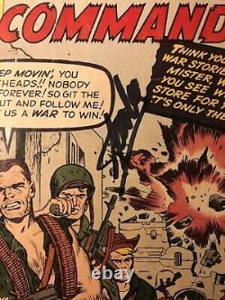 Sgt. Fury & His Howling Commandos 1 1st Nick Fury Signed Stan Lee & Jack Kirby