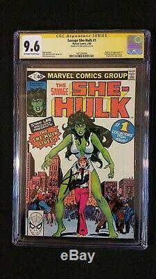 She-hulk #1 Cgc 9.6 Ss Signed Stan Lee 1st Appearance