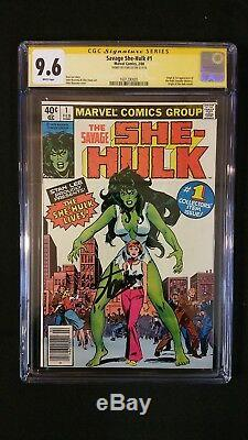 She-hulk #1 Cgc 9.6 Ss Signed Stan Lee 1st Appearance Htf Newsstand Edition