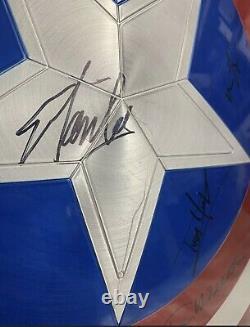 Signed Captain America Shield x17 Stan Lee Chris Evans Hemsworth Larson Brolin