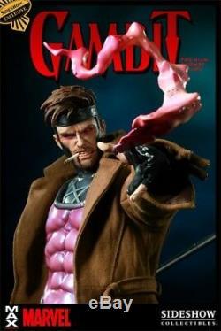 Signed Stan Lee Gambit Premium Format Exclusive Statue/Figure Sideshow EX RARE