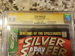 Silver Surfer #1 CGC9.0 Signed by Stan Lee Beautiful Incredibly High Grade Book
