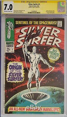 Silver Surfer #1 Cgc 7.0 Ss Signed Stan Lee