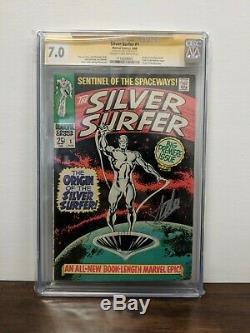 Silver Surfer 1 Marvel 1968 Cgc 7.0 Signature Series Signed By Stan Lee