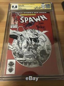 Spawn #227 Sketch (Spider-Man) CGC 9.8 Signed By Todd Mcfarlane And Stan Lee