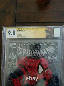 Spider-Man #1 CGC 9.8 SS Signed Stan Lee and Todd Mcfarlane Spiderman Label 1990