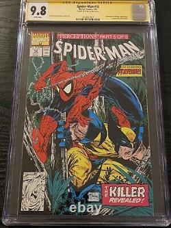 Spider-Man #12 CGC 9.8 SS Signed Stan Lee Todd McFarlane Issue Wolverine Cover