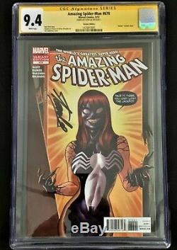 Spider-Man 678 RARE Venomized MJ Quinones Variant CGC SS 9.4 SIGNED by STAN LEE