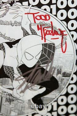 Spider-gwen #1 Cgc Ss 9.8 Signed 2x By Stan Lee & Todd Mcfarlane, Phantom Sketch