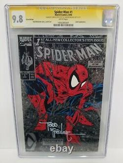 Spider-man #1 Cgc 9.8 Ss Silver 1990 Signed 2x Stan Lee & Todd Mcfarlane 2011