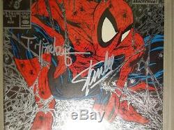 Spider-man #1 Silver Ed. PGX 9.8 SS Signed STAN LEE & Mcfarlane (like CGC) 1990