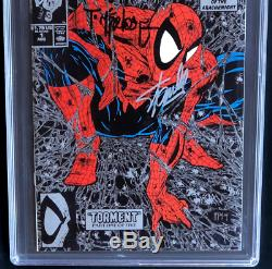 Spider-man #1 Silver Edition Signed Stan Lee + Mcfarlane 9.8 Pgx Ss 1990