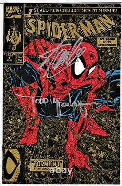Spider-man # 1 (gold Cover) Signed Stan Lee, Todd Mcfarlane, Nm, No Coa
