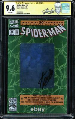 Spider-man #26 Cgc 9.6 White Ss Stan Lee Signed Cgc #1508498022