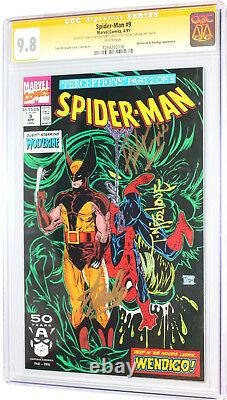 Spider-man 9 Cgc Ss 9.8 Signed 3x By Stan Lee Todd Mcfarlane Herb Trimpe Wht Pgs