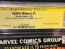 Spider-woman #1 Cgc 9.6 Ss Signed Stan Lee & Joe Sinnott 1st Issue Marvel Hot