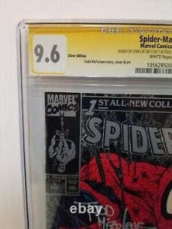 Spiderman #1 Silver Edition CGC 9.6 SS Signed by Stan Lee & Todd McFarlane! 1990