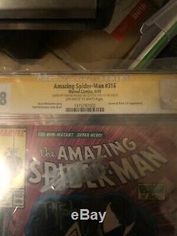 Spiderman 316 Cgc Signed By Todd McFarllen & Stan Lee