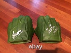 Stan Lee And Lou Ferrigno Signed Autographed Hulk Hands Prop