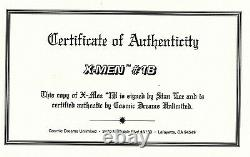 Stan Lee Autograhed Marvel X-Men #1B Comic COA Marvel 1991 Amricons