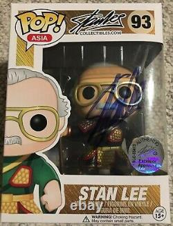 Stan Lee Autographed Funko Pop ASIA 93 Exclusive SIGNED WithCOA Excelsior Hologram