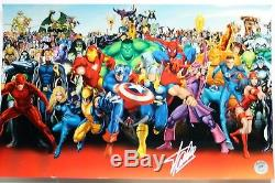 Stan Lee Autographed Singed MARVEL Poster (Stan Lee Authenticated) 1