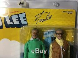 Stan Lee Retro 8 Inch Action Figure Two-Pack Autographed With COA #85