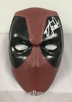 Stan Lee SIGNED Deadpool Mask Helmet Excelsior HOLO COA Marvel Movie Xcoser
