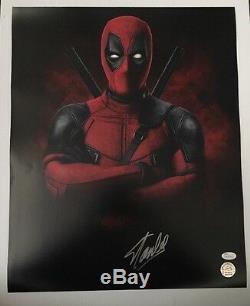 Stan Lee Signed Autographed 16x20 Photo Marvel Universe Deadpool JSA COA 17